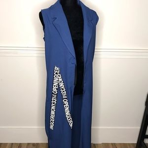 Jackets & Blazers - Floor length blazer vest, fashion blazer